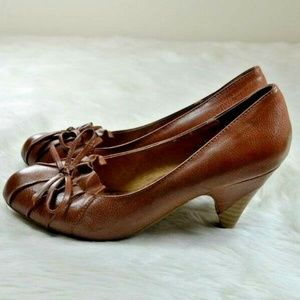 M2 by Miz Mooz Forrest Brown Vegan Leather Heels